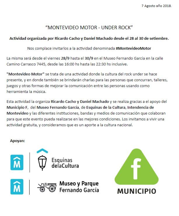 Montevideo Motor Under Rock Uruguay